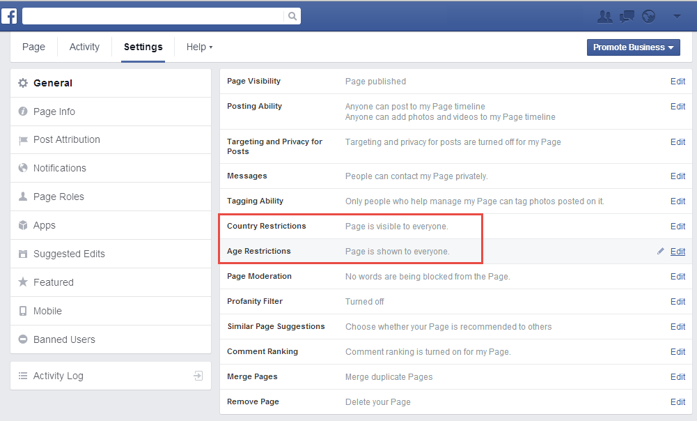 How To Turn Off The Facebook Age And Country Restrictions