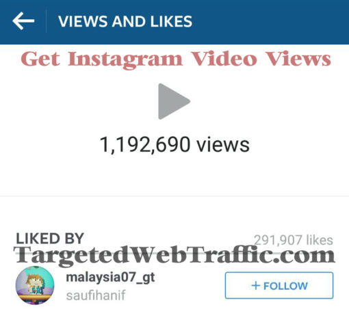 Get Instagram Video Views