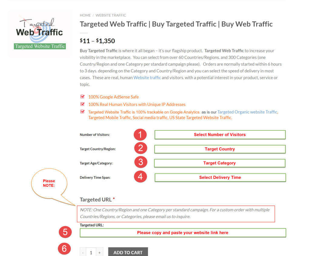 How You Can Place Order- Targeted Web Traffic